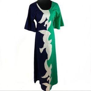 AMAZING vintage 70's doves maxi dress